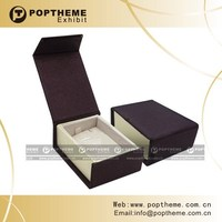 leather jewellery box with customized design in Guangzhou
