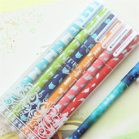 ball point pen Colorful small floral pattern watercolor pen 0.5mm refill plastic ball pen