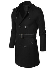 Mens PEA Wool Belted Trench Coat