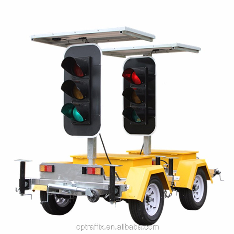 AS/NZS Coupled Traffic Divert Solar Powered Mobile Stop and Go Directional Signs Street LED Portable Traffic Signal Lights