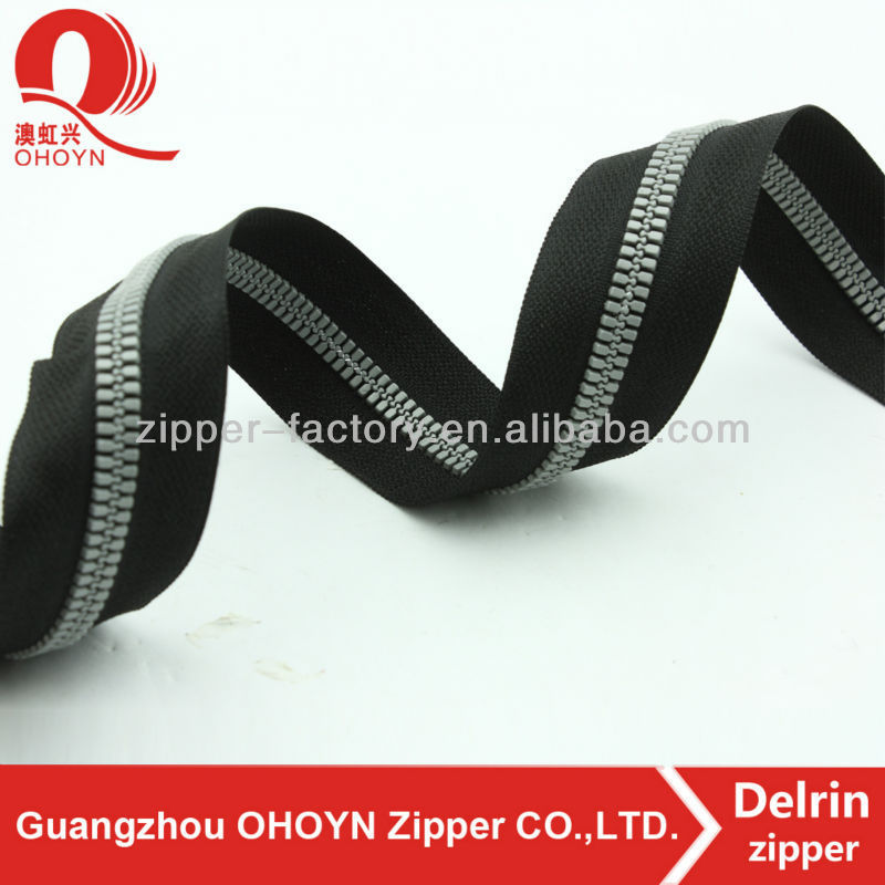 wholesale custom plastic zipper double sided zipper for jackets