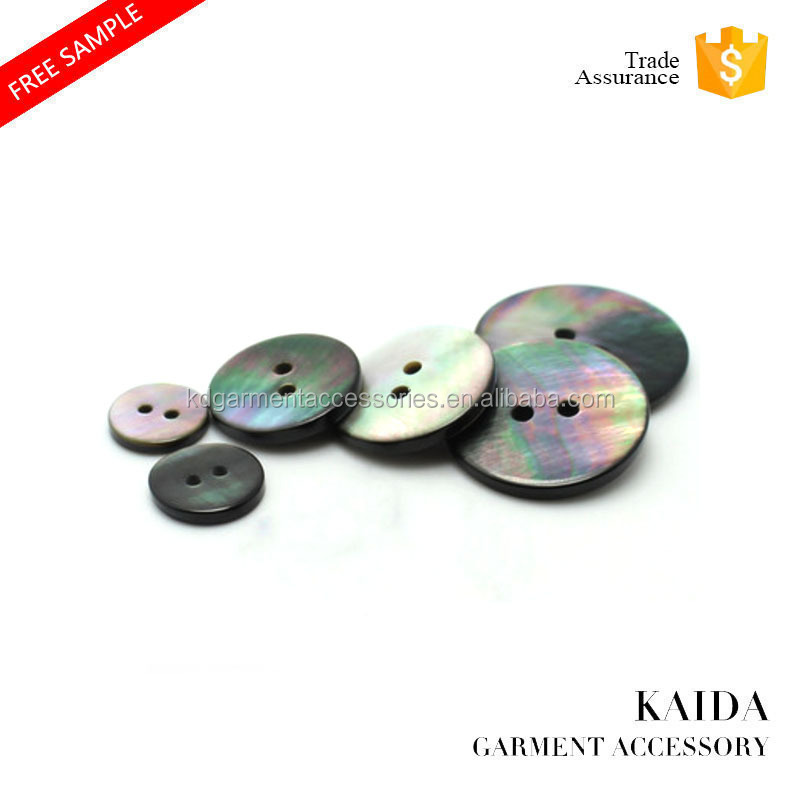 KAIDA Natural black butterfly two holes high-end shell buttons for sweaters suits and shirt