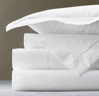 High Quality 100% Cotton White Hotel Bed Linen for 5 Star hotel