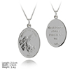 PSA-1026 Plain Silver Pendant Charm 925 Sterling Silver Charm Guardian Angel Charm