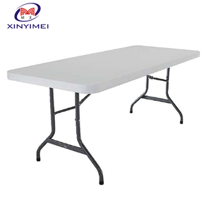 White HDPE Outdoor Rectangular Plastic Folding Table