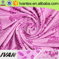 IVAN TEXTILE Hot Sale Fashion Printed Solid Dyed Polyester Cotton Burnt Out Knitting Fabric