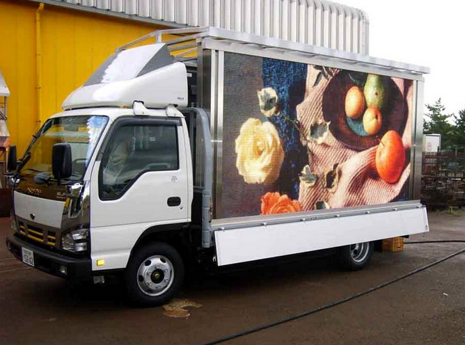 Latest product Outdoor mobile led ad vehicle for traffic&safety propaganda,mobile ad truck