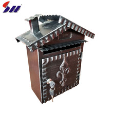 Widely used outdoor standing style antique apartment mailbox with master key