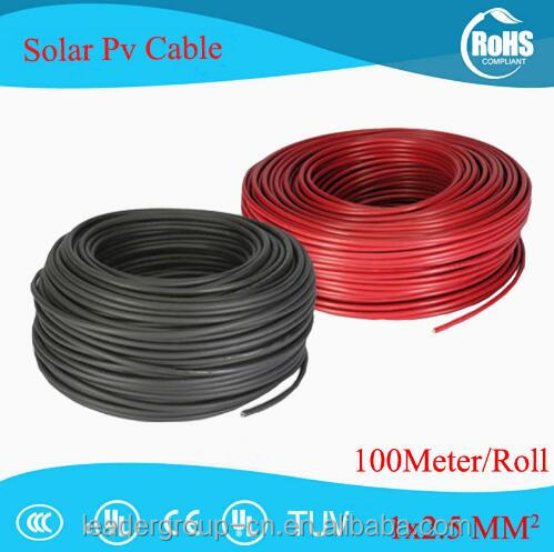 100m/roll 2.5mm2(14 AWG) TUV UL Approved Solar Cable PV Cabel <strong>Wire</strong> Red and Black Copper Conductor XLPE Jacket