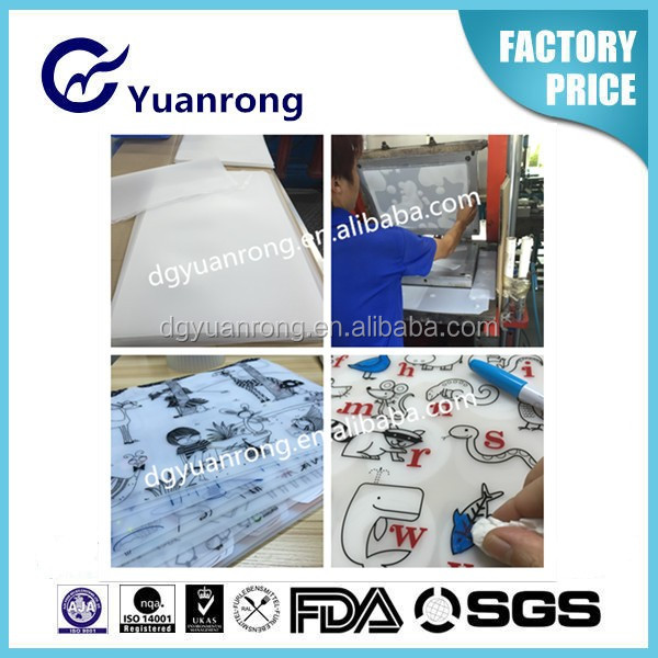 Custom High Quality Silicone Rubber Placemat With Printed Pattern