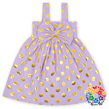 Small Gold Polka Dots Little Girls Cotton dressbaby 1 year old party dress 1-6 years old baby girl dress kids sequin dress girls