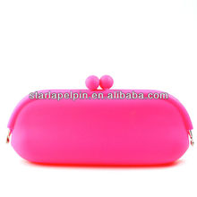 wholesale colorful cheap logo printed silicone kids custom coin purse