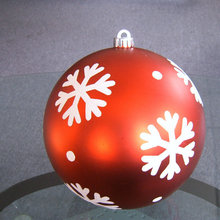 100mm plastic seamless ball Christmas ornament, plastic hanging ball