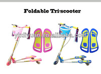 kids frog scooter,new folding adjustable handle,ride on carthree PU wheel foot/kick scooter