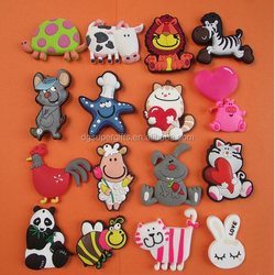 Custom cheap animal fridge magnet pvc magnet