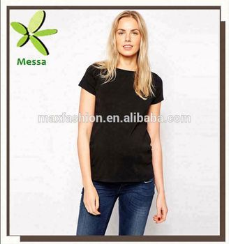 Chic Factory Price Tall Crew Neck Maternity T-shirt For Pregnant Women