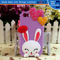 3D Cute Cartoon Silicone Rubber Back Case Cover For iPhone 5