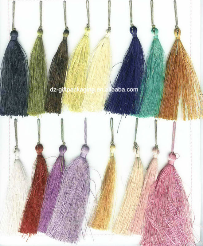 deractive tassel ,fashion polyester trimming for decoration curtain ,home decor of tassel fringe
