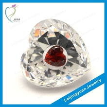 Charming multi-color heart shape synthetic gems cubic zirconia