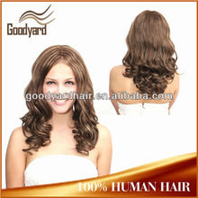 American white people popular body wavy full lace wig with baby hair