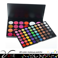 SP82 New brand eye makeup sets 82 colors eyeshadow palette with mineral powder