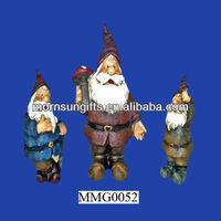 Set of three custom polyresin garden gnomes cheap
