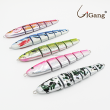 Artificial bait type fishing swim jointed lures jig