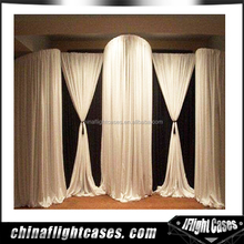 R.k Hot Selling Velet Flame Resistant Blackout 100% Backdrop Drapery & Curtains