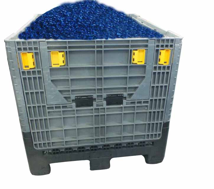 1200x1000mm used collapsible plastic pallet box