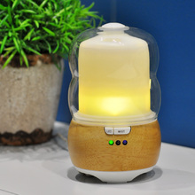 factory price Translucent White glass aroma diffuser with bluetooth speaker