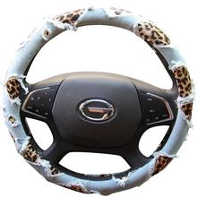High Quality Jeans Material Fabric Steering Wheel Cover With Different colors For new year