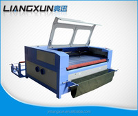 80w 100w automatic laser cutting machine with fabric printing