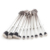 10pcs new style fish shaped brushes soft synthetic fiber plastic handle makeup brush set