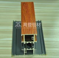 6063 wooden grain heat insulation extrusion aluminium profile section for window and door low price wholesale price