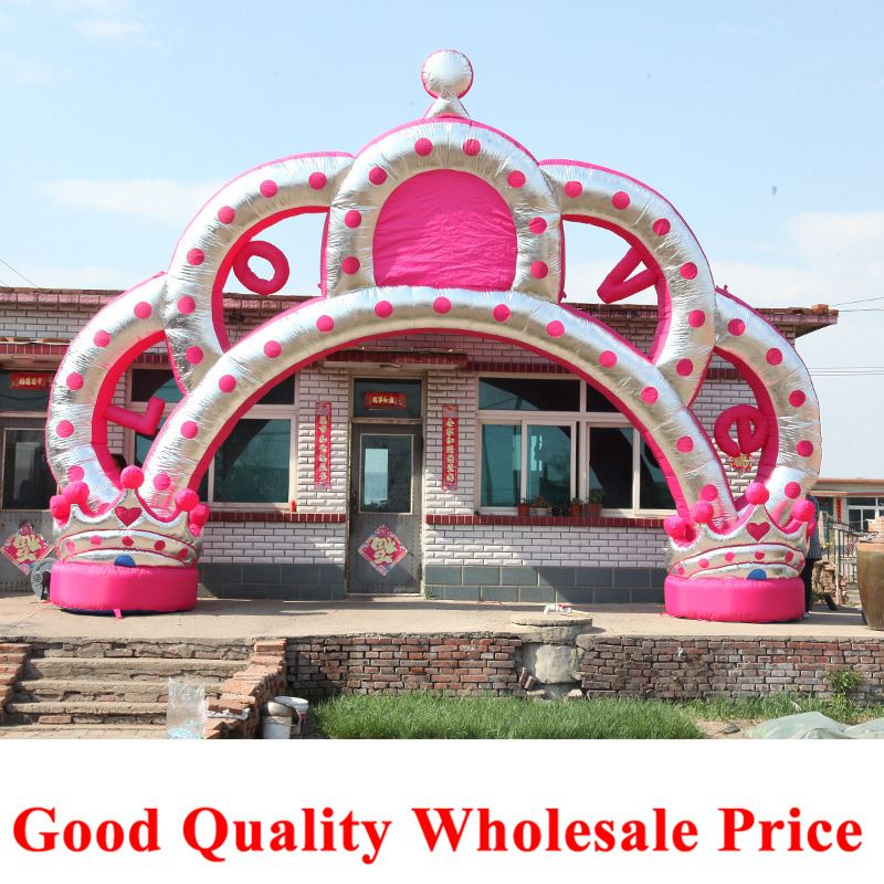 Factory supply inflatable arches, crown doors, birthday parties / outdoor activities / wedding celebrations gas door