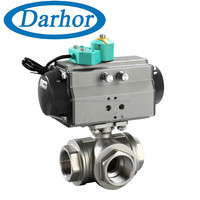 One year warranty pneumatic ball valve ss