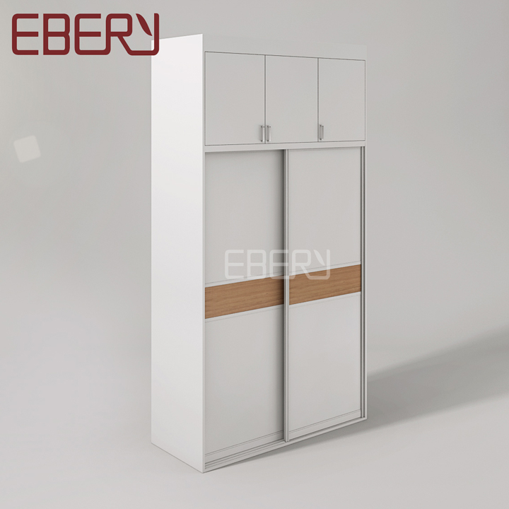 Modern wardrobe design cherry waist line door white bedroom wardrobe