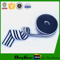 Customized Striped Polyester Twill Elastic Tape