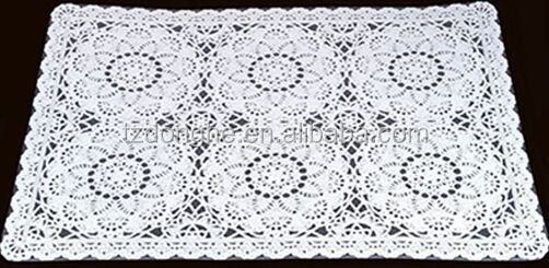 The latest new design PVC Vinyl plastic crochet placemats