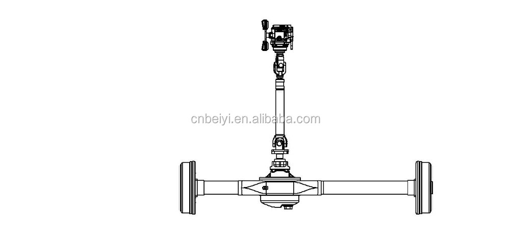 980 Rear Axle Motor 5 suspension holes For Tricycle
