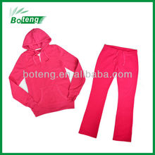 Cheap Polyester fleece branded women tracksuits