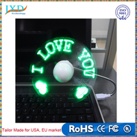 DIY Gadget Mini USB Fan LED Light Flexible Programmable LED Cooler Cooling Fan Programming Any Characters Words Messages Text