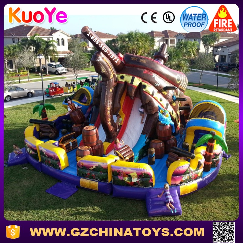 amusing and novelty pirate treasure inflatable fun city for sale