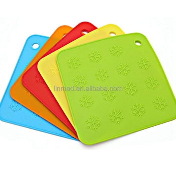 Silicone Heat Resistant Pot Holders Kitchen Mat With Custom Printing