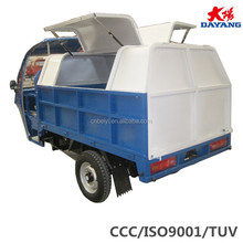 250 water cooled open body heavy load 3 wheel motorcycle with garbage box for sale in Peru