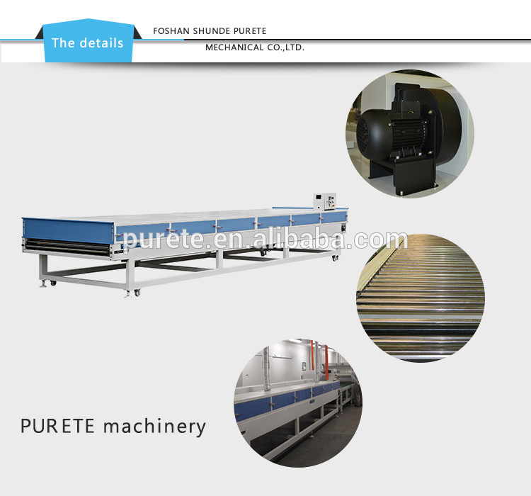 IR heating, Infrared flow leveling machine for paint