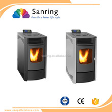 quick heating 9 KW auto feeding wood burning pellet stove for sale