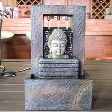 Hot Selling Polyresin Buddha Head Statue Antique Table Top Fountain