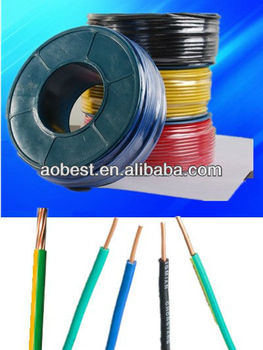 RVV PVC 2 Cores Copper THW THHN TWD Electric cable wire