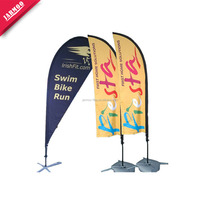 Cheap printed outdoor advertising custom beach flag
